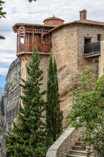 Monastery in Meteora rocks. Greece Stock photo © mahout