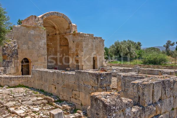 древних базилика Греция лет зеленый Сток-фото © mahout