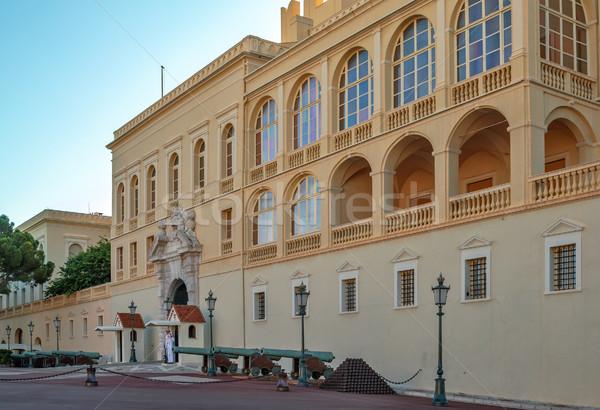 Façade Monaco royal palais bâtiment château Photo stock © mahout