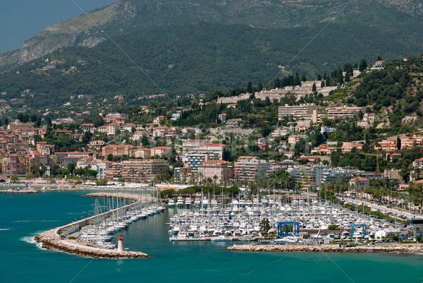 Marina in french mediterranean town Menton Stock photo © mahout