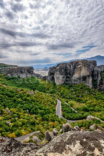 Weg rotsen Griekenland boom natuur berg Stockfoto © mahout