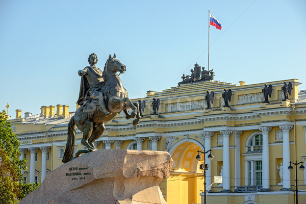 Statue of Peter the Great in St. Petersburg Stock photo © mahout