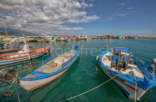 Halászat hajók tenger kicsi Görögország város Stock fotó © mahout