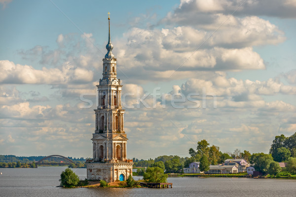Flooded belfry in Kalyazin, Russia Stock photo © mahout