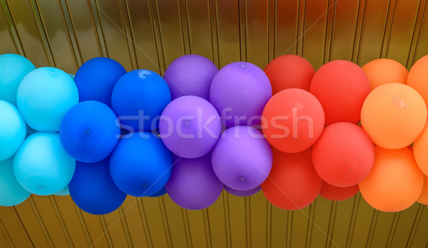 Globos colorido feliz cumpleanos naranja Foto stock © mahout