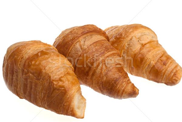 Hagyományos francia croissantok fehér szín reggeli Stock fotó © maisicon