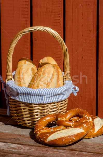 Crispy French baguettes Stock photo © maisicon