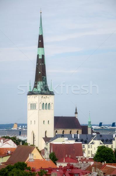 Città vecchia Tallinn Estonia nubi costruzione strada Foto d'archivio © maisicon