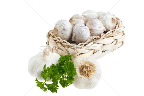 Garlic, parsley. Stock photo © maisicon