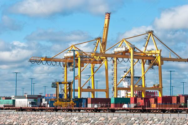 порта Хельсинки морем судно мобильных промышленных Сток-фото © maisicon