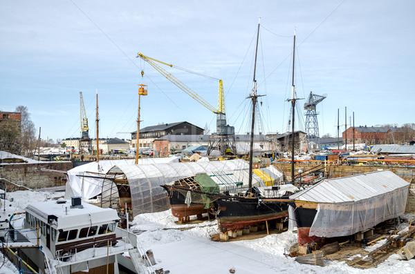 лодках природы морем двери синий промышленности Сток-фото © maisicon