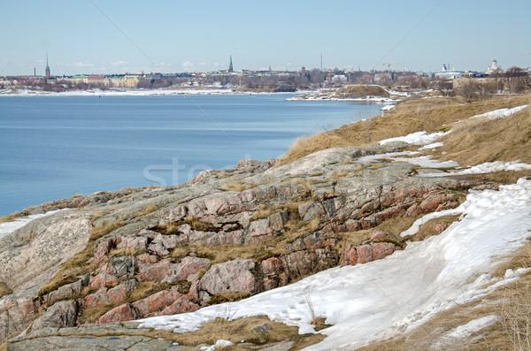 крепость острове Хельсинки Финляндия небе воды Сток-фото © maisicon