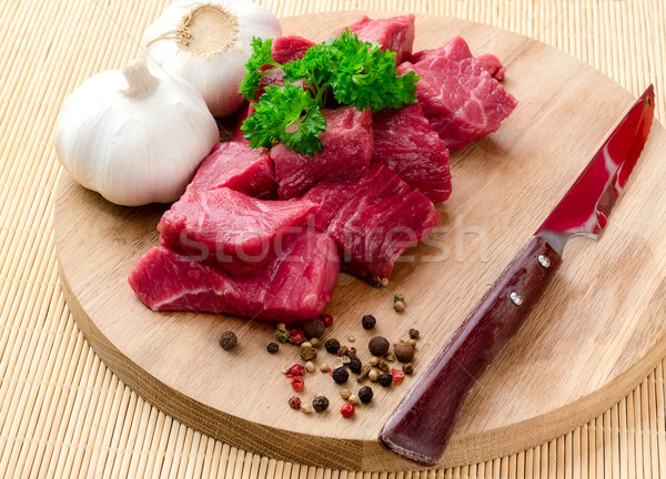 сырой мяса овощей специи зеленый обеда Сток-фото © maisicon