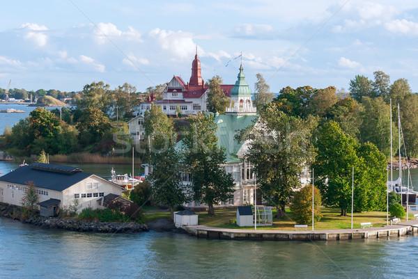 острове Балтийское море Хельсинки Финляндия город природы Сток-фото © maisicon
