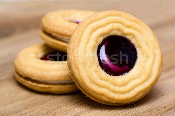 Kurabiye ahşap gıda çikolata şeker renk Stok fotoğraf © maisicon
