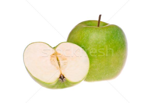 Zöld alma lövés fehér tavasz étel Stock fotó © maisicon