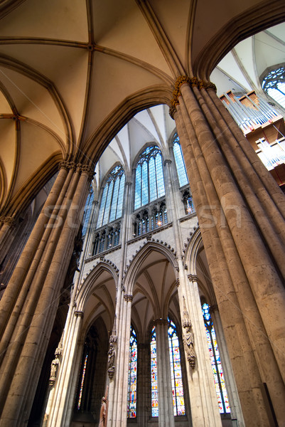 Gótico catedral colonia Alemania antigua ciudad Foto stock © maisicon