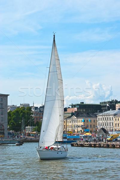 Helsinki voilier yacht central carré ville Photo stock © maisicon