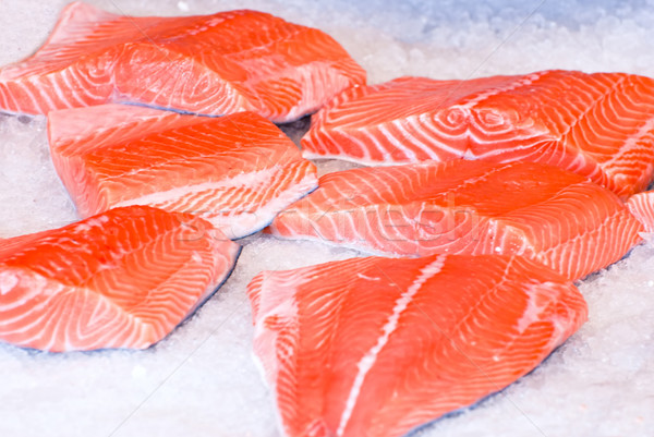 Taze balık buz pazar Tokyo gıda Stok fotoğraf © maisicon