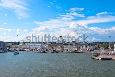 Helsinki Finlandia panoramiczny widoku budynku miasta Zdjęcia stock © maisicon