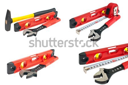 hammer, spirit level, a wrench Stock photo © maisicon
