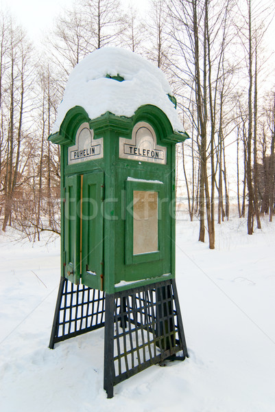Old Finnish phone booth. Stock photo © maisicon