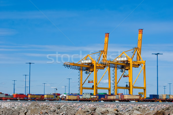 Foto stock: Mar · comercio · puerto · industria · almacén · almacenamiento