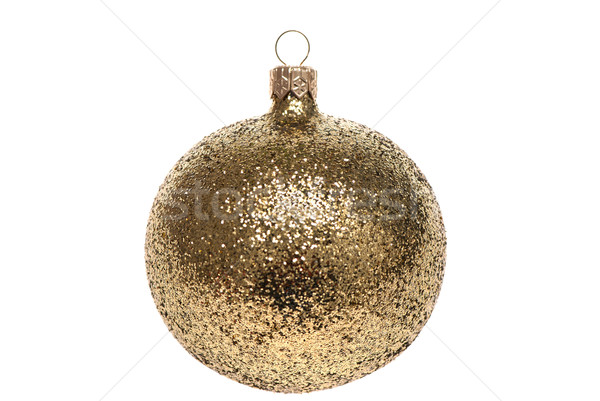 Arany karácsony labda izolált fehér háttér Stock fotó © maisicon