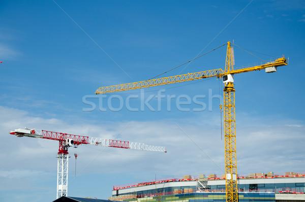 рабочих здании дома стены домой окна Сток-фото © maisicon