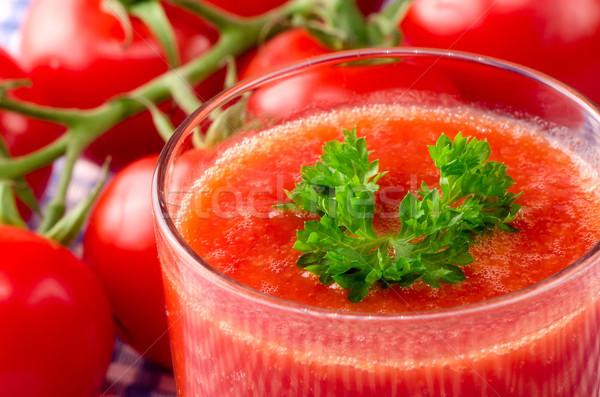 Friss paradicsomlé gyógynövények étel levél gyümölcs Stock fotó © maisicon