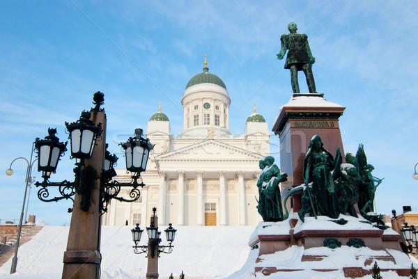 Церкви центральный квадратный Хельсинки Финляндия небе Сток-фото © maisicon