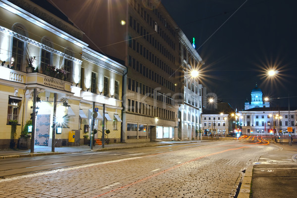 Helsinki nuit Photos Finlande coup longue exposition Photo stock © maisicon