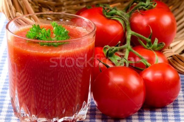 свежие томатный сок травы продовольствие лист фрукты Сток-фото © maisicon