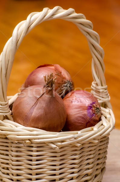 Basket of onions. Stock photo © maisicon