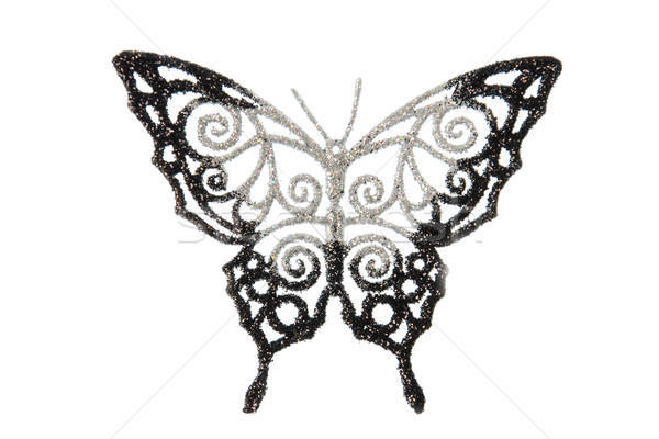 Dekoratif kelebek atış stüdyo beyaz soyut Stok fotoğraf © maisicon