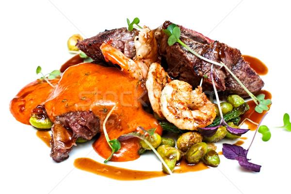 мяса соус креветок свежие травы основной Сток-фото © maisicon
