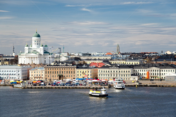 Helsinki Finlande vue ville bâtiment rue Photo stock © maisicon