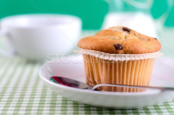 Taze tablo gıda kek içmek Stok fotoğraf © maisicon