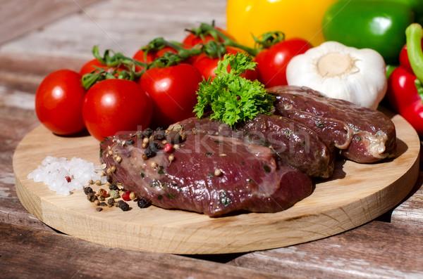 Et taze sebze arka plan yeşil akşam yemeği Stok fotoğraf © maisicon