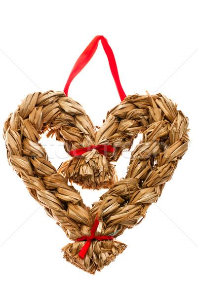 Noel dekorasyon el saman biçim kalp Stok fotoğraf © maisicon