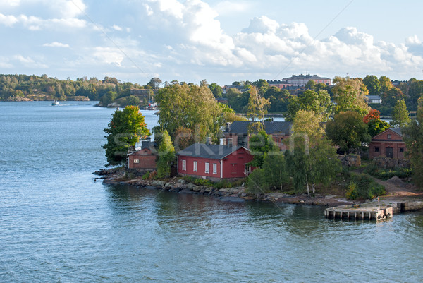 крепость Хельсинки Финляндия острове небе воды Сток-фото © maisicon