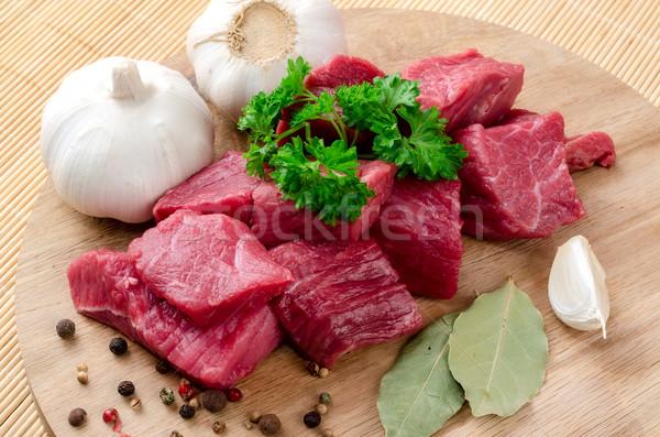 свежие мяса специи петрушка красный приготовления Сток-фото © maisicon