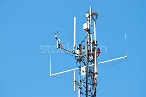 Atış ada ofis şehir televizyon güvenlik Stok fotoğraf © maisicon