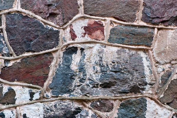 Duvar eski kale doku doğa kentsel Stok fotoğraf © maisicon