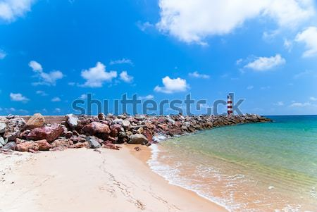 Lighthouse and the Ocean Stock photo © maisicon