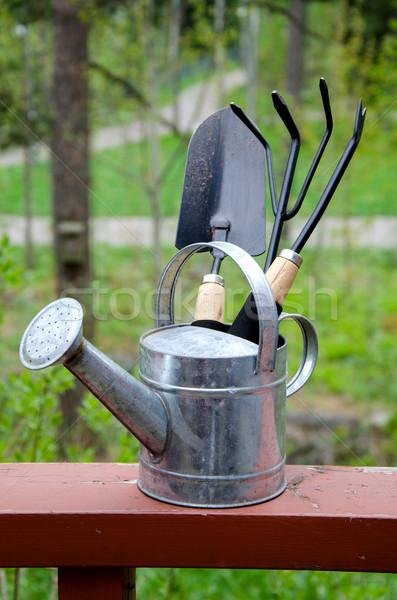 саду инструменты природы трава работу фон Сток-фото © maisicon
