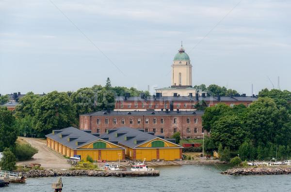 Forteresse île Helsinki Finlande bâtiment ville Photo stock © maisicon