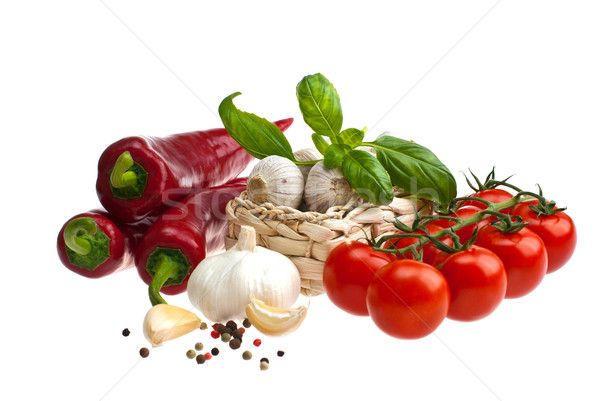 Peppers, tomatoes, garlic. Stock photo © maisicon