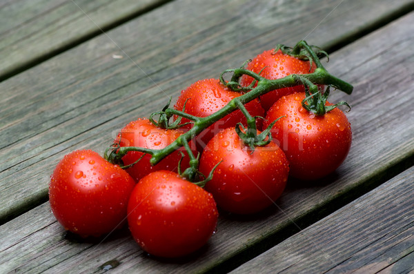 Taze kırmızı domates eski doğa yeşil Stok fotoğraf © maisicon