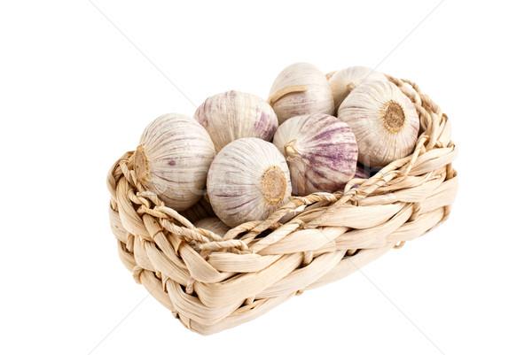 чеснока корзины белый природы здоровья фон Сток-фото © maisicon